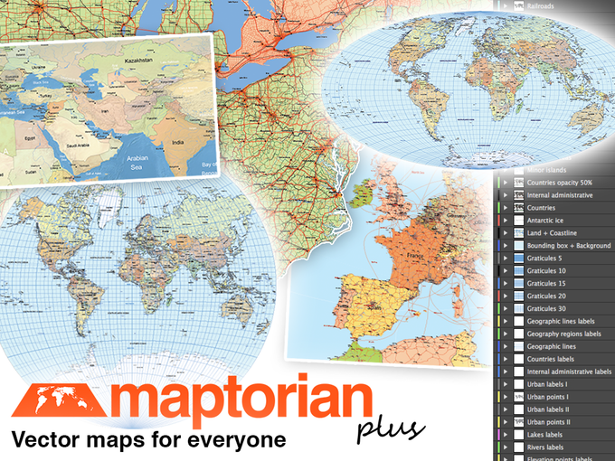 Maptorian vector maps