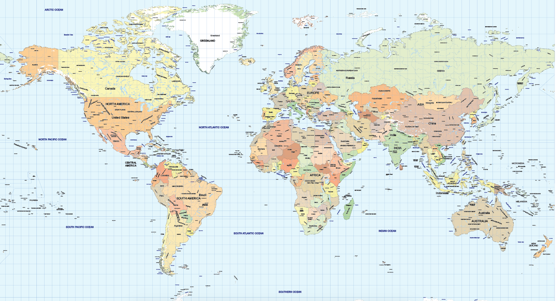 World Maps Vector Pack Maptorian - Detailed world map