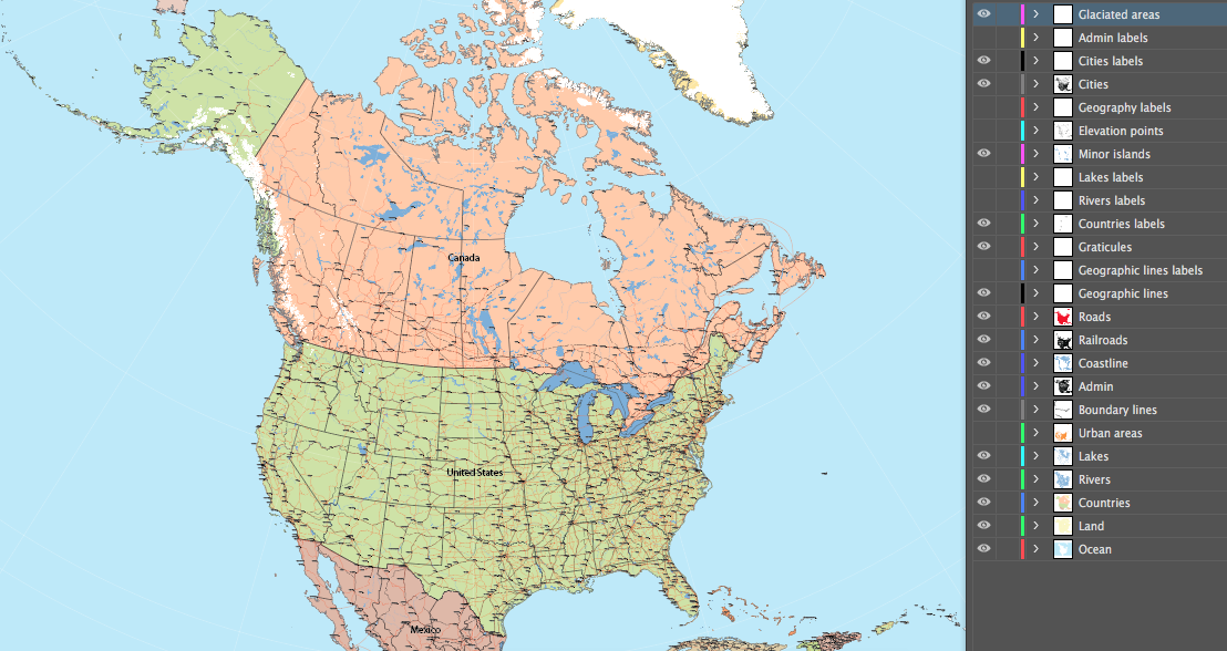 America Map Without Labels All Objects Labels And Elements Are - Us map without labels