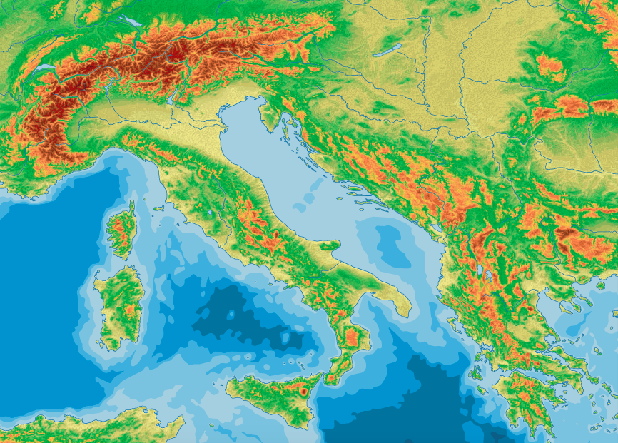 Maptorian topographic world maps Maptorian