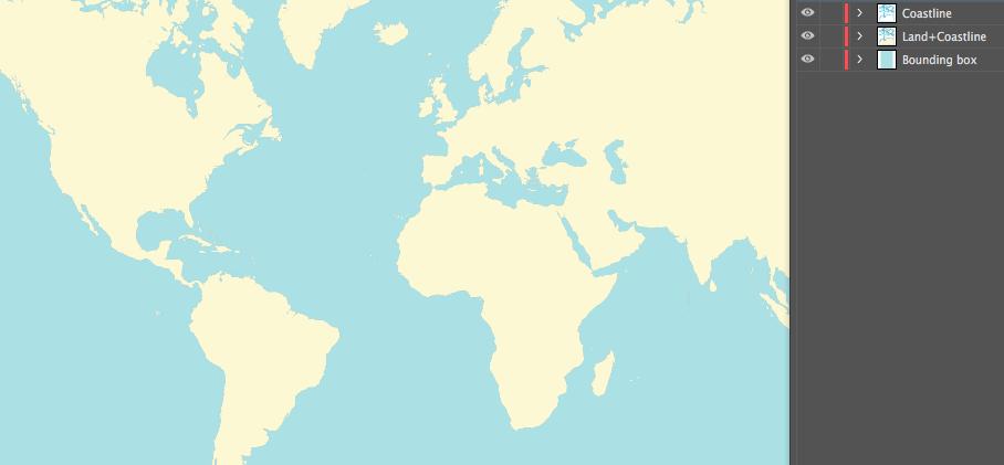 Land and coastlines