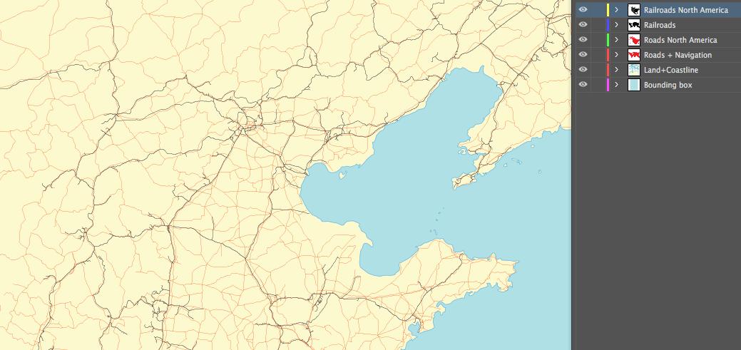 Roads, navigation and railroads