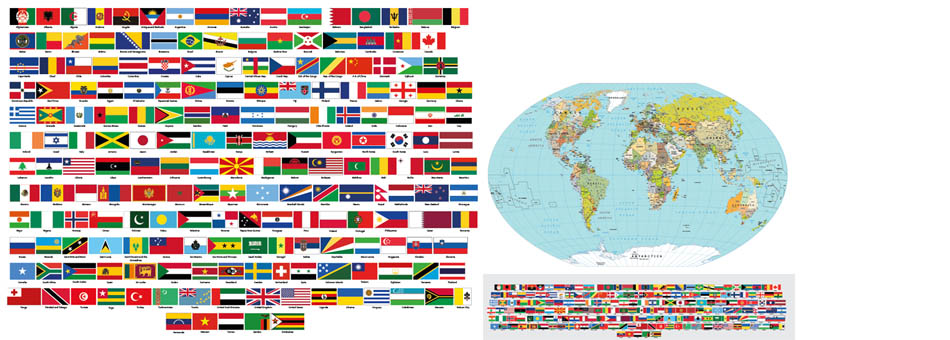 Map Of The World Flags.Vector World Maps Pack Lite Edition Maptorian