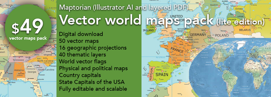 Vector world maps pack lite edition maptorian thats why i created this new collection of vector maps of the world with these new maps simple compositions can be created quickly the coastlines gumiabroncs Image collections