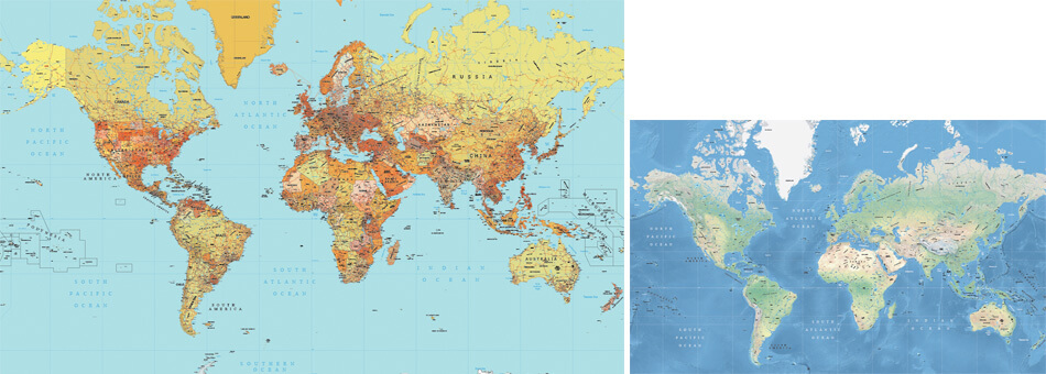 New high detail vector maps of the world maptorian 2018 edition mercator high detail maps political and physical gumiabroncs Image collections