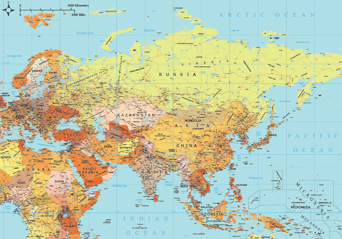 Vector world maps pack full edition maptorian asia map high detail gumiabroncs Choice Image