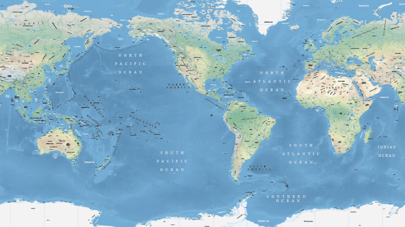 Pacific-focused vector maps of the world – Maptorian