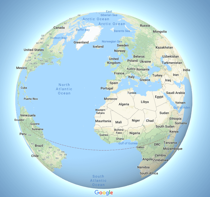 Google Maps says goodbye to Mercator (but only on certain ... on google maps update, google maps screenshot, google maps path,